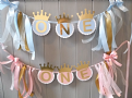 Blue & Gold 1st Birthday Banner Bunting